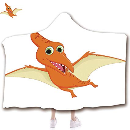 Adult pterodactyl clipart clip black and white library Amazon.com: Wearable Hooded Throw Blanket Soft Plush Blanket,3D ... clip black and white library