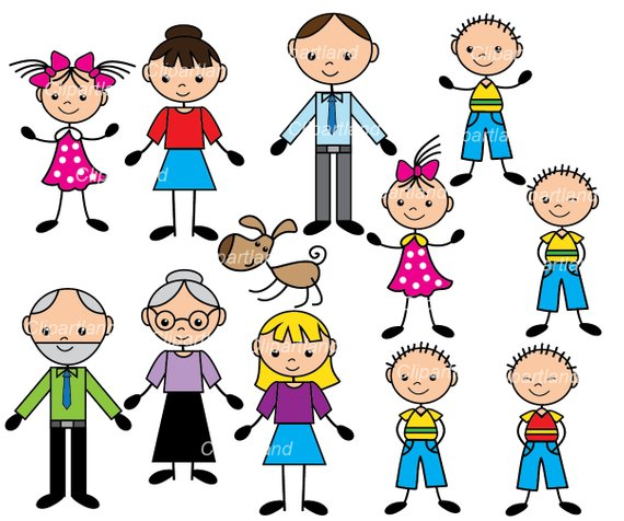 Adult siblings clipart image free download INSTANT Download. CST_stick_figure_family_1. Family clip art. Stick ... image free download