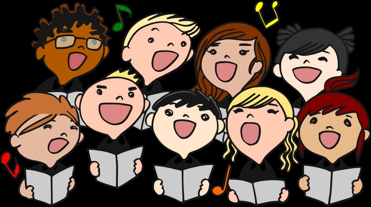 Black and white choir clipart