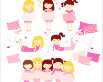Adult slumber party clipart jpg black and white library Free Pajama Party Clipart, Download Free Clip Art, Free Clip Art on ... jpg black and white library