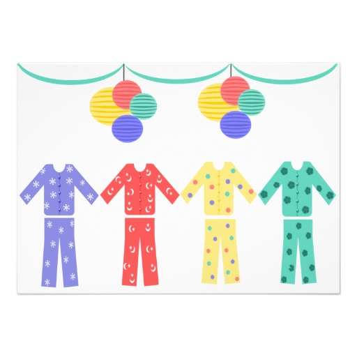Christmas pj party clipart