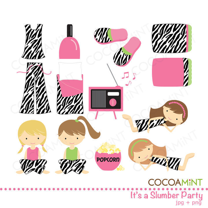 Adult slumber party clipart jpg freeuse library Free Pajama Party Clipart, Download Free Clip Art, Free Clip Art on ... jpg freeuse library