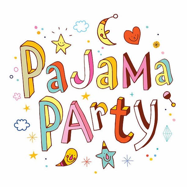 Adult slumber party clipart clip art royalty free library Saturday Morning Pajama Party   The Pop Shop clip art royalty free library