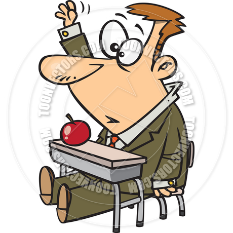 Adult students learning clipart