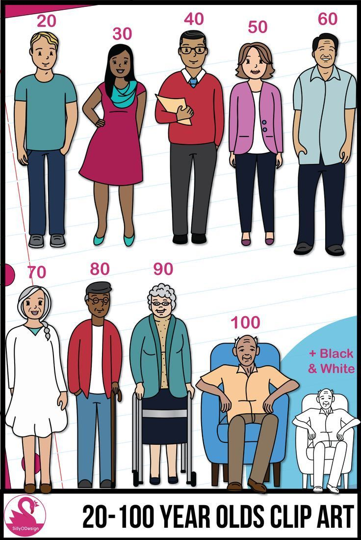 Adult students clipart jpg royalty free download Adult Clip Art Ages 20 Year Old - 100 Years Old (Clipart of Adults ... jpg royalty free download