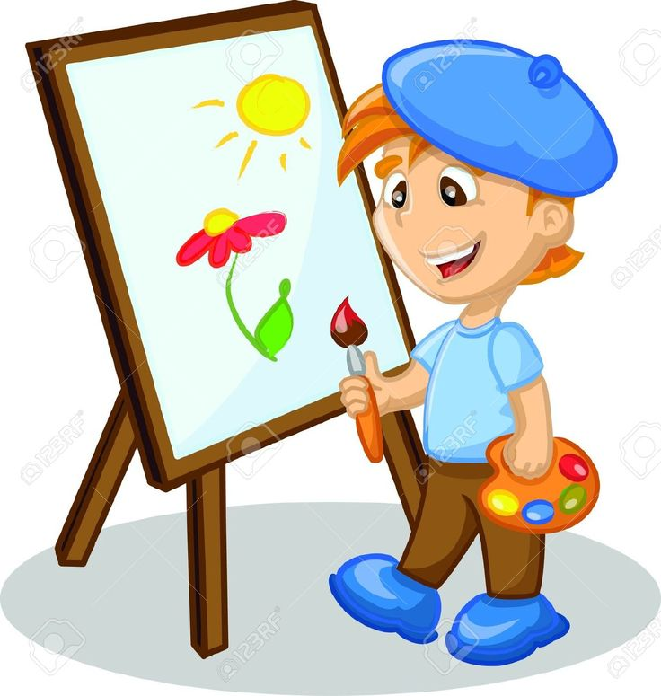 Cartoon painting clipart royalty free Kids Painting Clipart | Free download best Kids Painting Clipart on ... royalty free