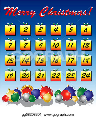 Advent calendar clipart. Clip art royalty free