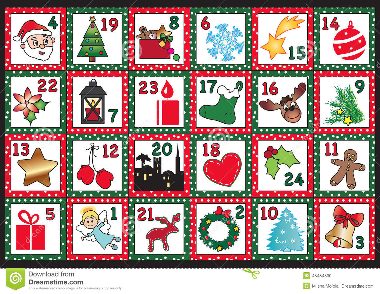 Advent calendar clipart. Free christmas clipartfest stock