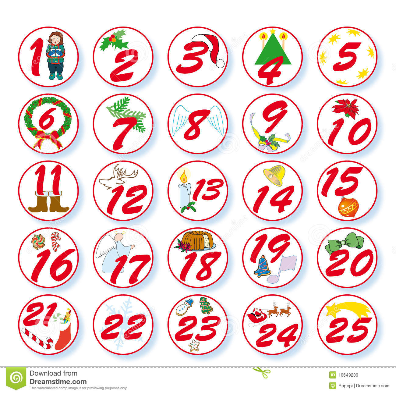 Merry christmas clipartfest with. Advent calendar clipart