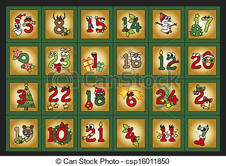 Advent calendar clipart banner freeuse download Advent calendar Clip Art and Stock Illustrations. 438 Advent ... banner freeuse download