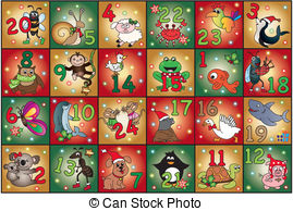 Clip art and stock. Advent calendar clipart