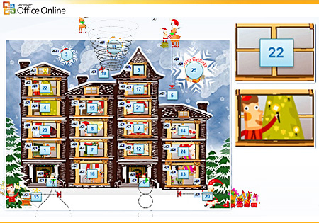 Advent Calendar Template (PowerPoint) graphic free