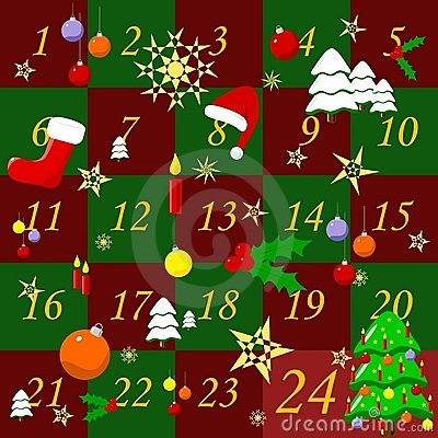 Advent calendar clipart - ClipartFest picture black and white download