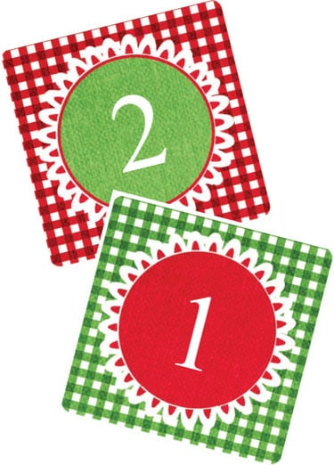 Advent calendar number clipart free gift tag jpg free stock Last Minute Printable Advent Calendar | Skip To My Lou jpg free stock
