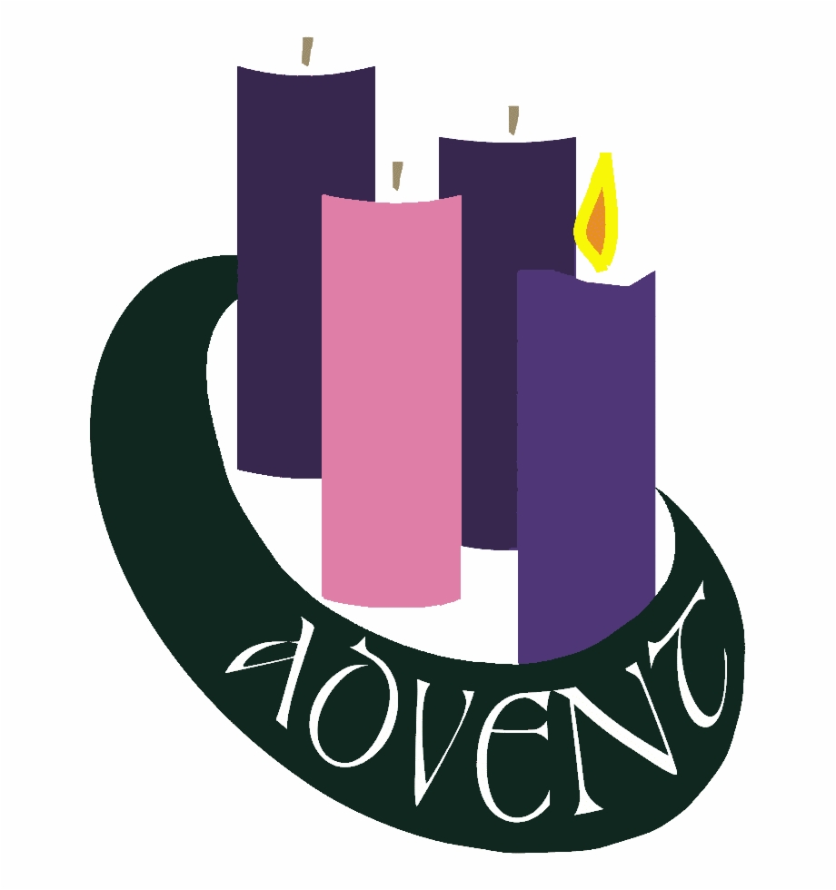 Advent candles clipart transparent royalty free Clipart Advent Wreath Two Candles Lit - Advent Wreath First Sunday ... royalty free