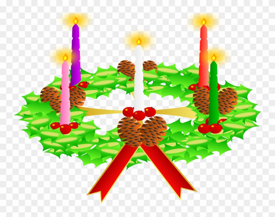 Advent candles clipart transparent png library download Transparent The Advent Wreath Clipart (#76299) - PinClipart png library download