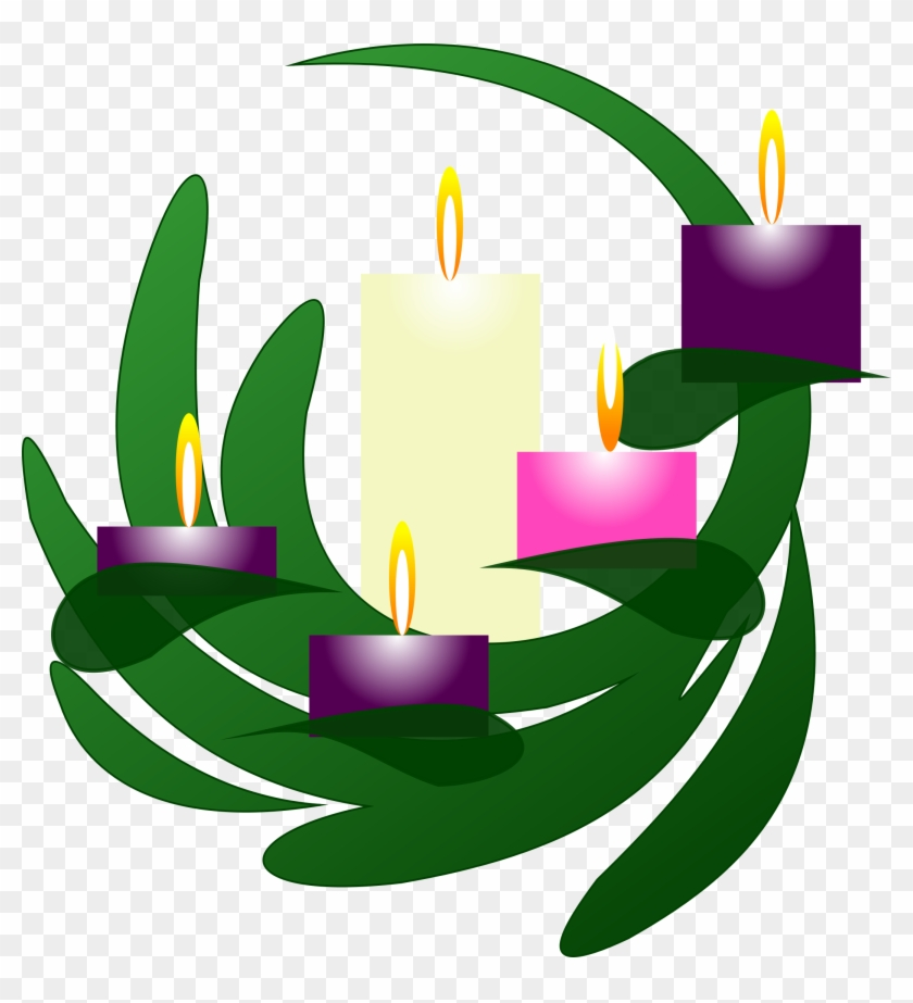 Advent candles clipart transparent png freeuse stock Clipart Advent Wreath Christmas Eve - Third Sunday Of Advent Clipart ... png freeuse stock