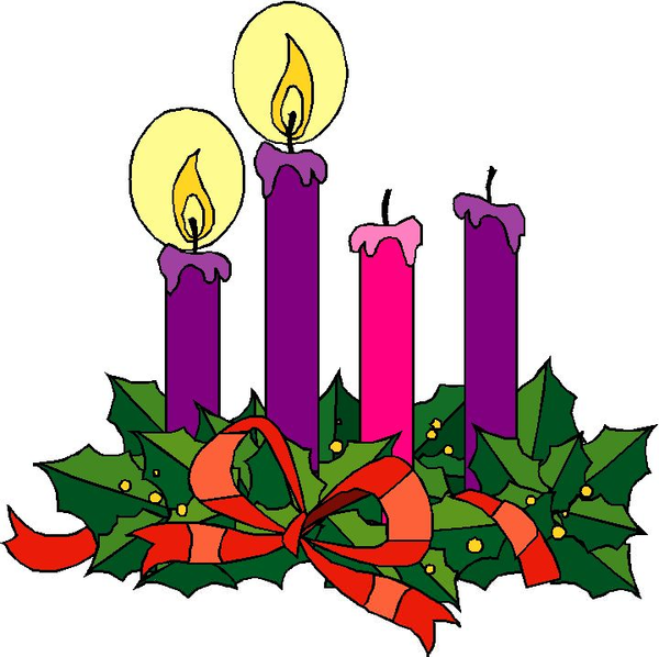 Clipart advent candle graphic black and white stock Catholic Advent Wreath Clipart | Free Images at Clker.com - vector ... graphic black and white stock