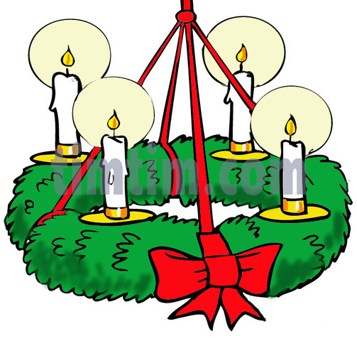 Advent decorations clipart image free stock Advent Wreath Clipart Free | Free download best Advent Wreath ... image free stock