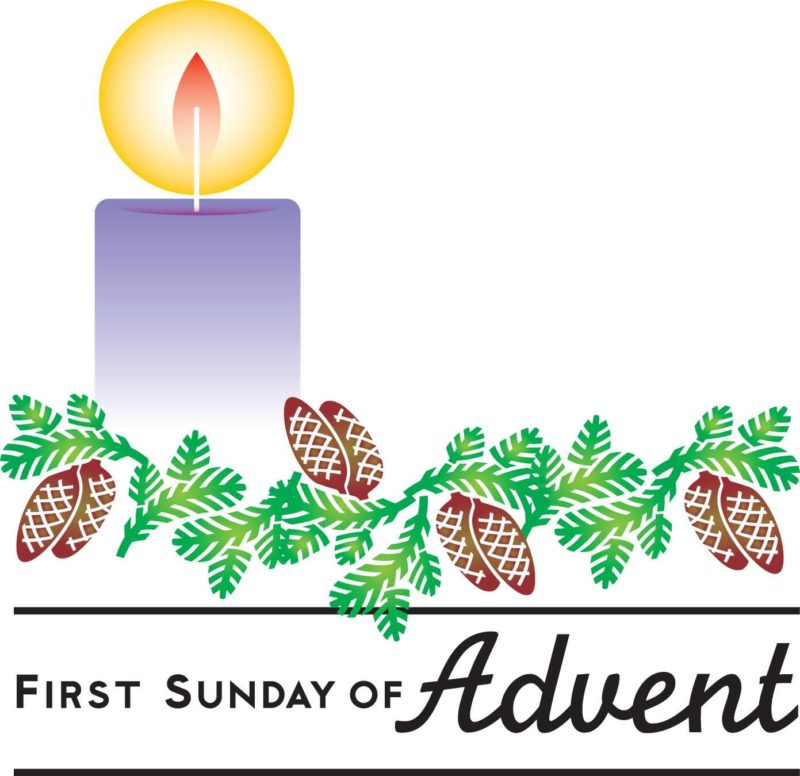 Advent season 2018 clipart svg royalty free library First-Sunday-Of-Advent-Candle-Clipart - McKinley Church svg royalty free library