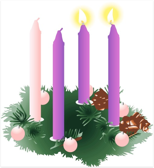 Advent wreath clipart candles vector transparent library Free Advent Wreath Cliparts, Download Free Clip Art, Free Clip Art ... vector transparent library