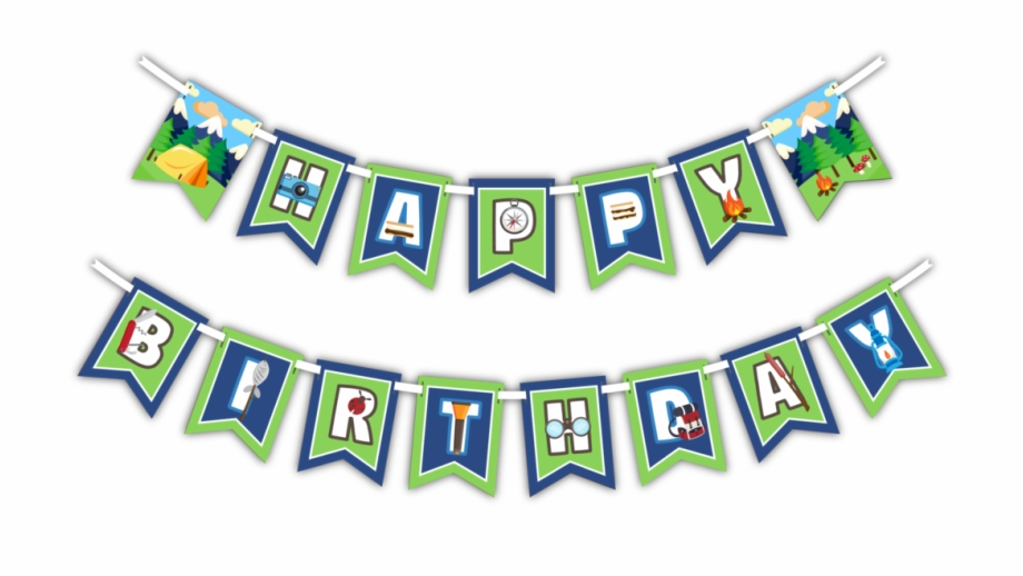 Adventure banner clipart graphic freeuse Camping Adventure - Happy Birthday Camping Banner Free PNG Images ... graphic freeuse