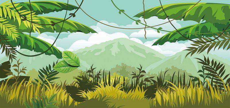 Adventure banner clipart clip royalty free library minimalist cartoon style jungle adventure banner | Background images ... clip royalty free library