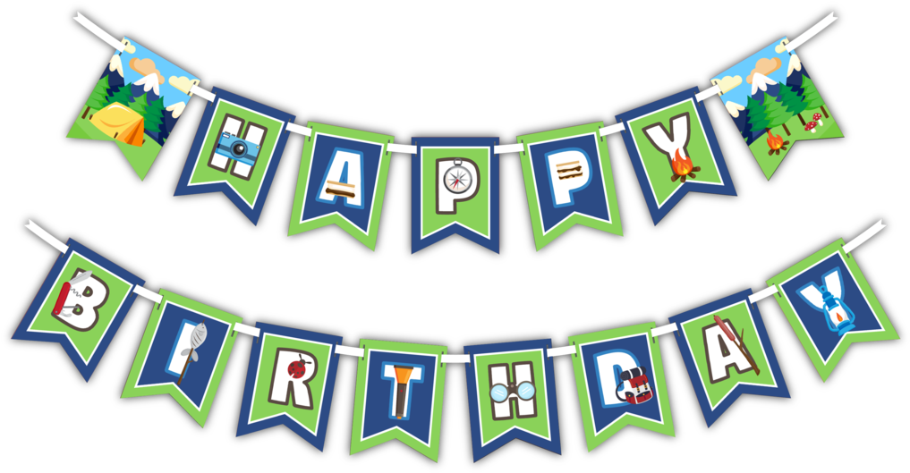 Adventure banner clipart banner transparent HD Camping Adventure - Happy Birthday Camping Banner , Free ... banner transparent