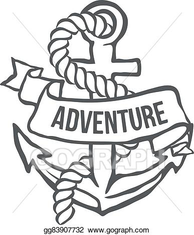 Adventure banner clipart banner royalty free Vector Stock - Anchor with banner. vector. Clipart Illustration ... banner royalty free