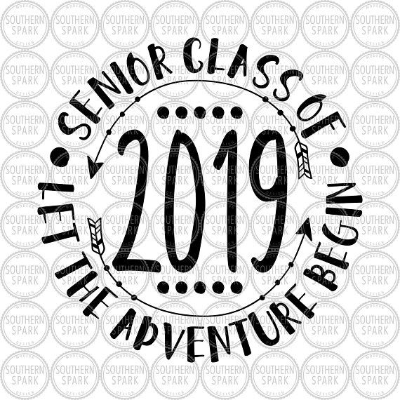 Adventure begins clipart banner free download Senior 2019 / Senior Class Of 2019 Let The Adventure Begin / Back To ... banner free download