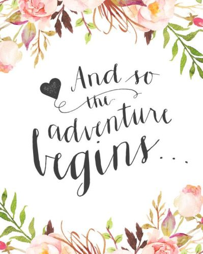 Adventure begins clipart black and white library And so the adventure begins… – Think Less Live More black and white library