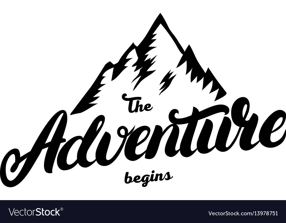 Adventure begins clipart graphic freeuse download The adventure begins hand written lettering graphic freeuse download
