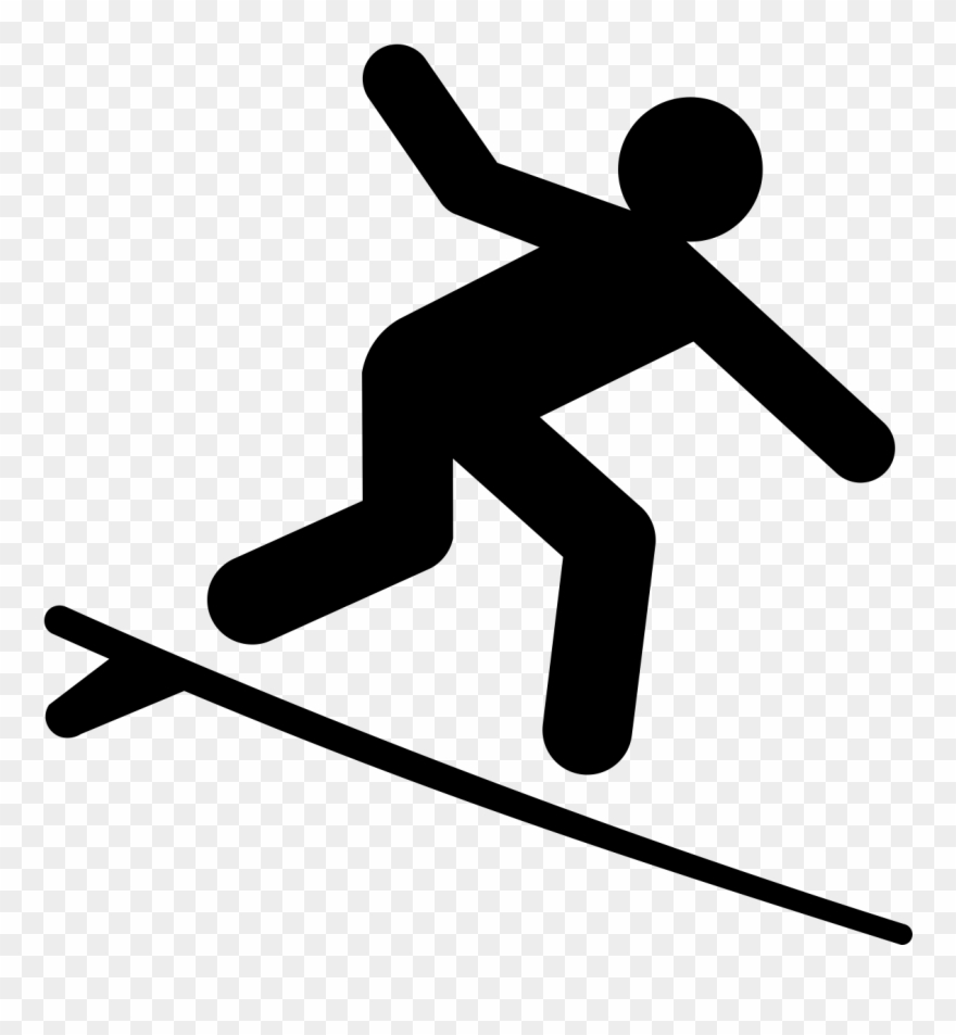 Adventure icon clipart svg black and white Snow Surfing Adventure - Surfing Icon Clipart (#1288318) - PinClipart svg black and white