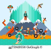 Adventure sports clipart graphic download Extreme Sports Clip Art - Royalty Free - GoGraph graphic download