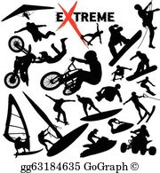 Adventure sports clipart banner black and white download Extreme Sports Clip Art - Royalty Free - GoGraph banner black and white download