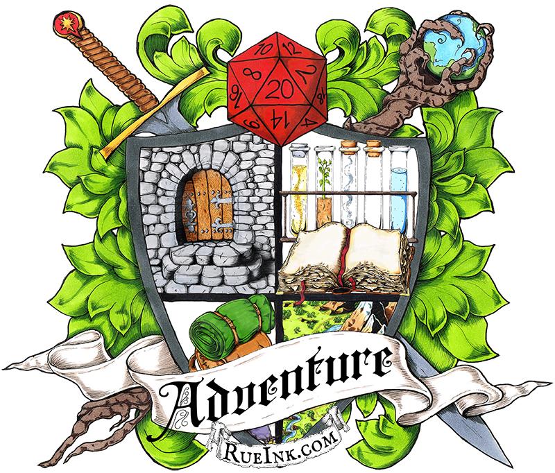 Adventuring clipart image Adventure Heraldry Poster image