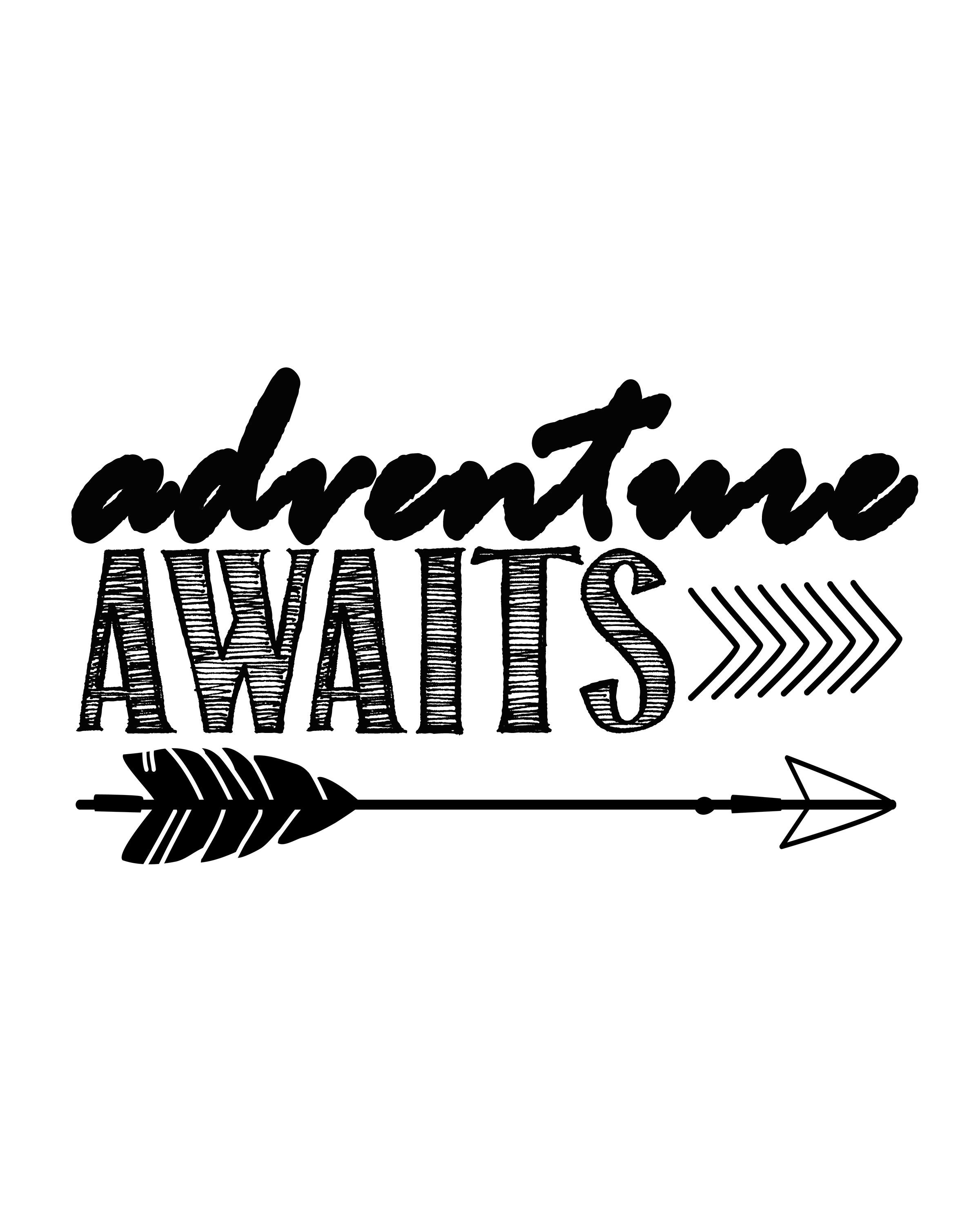 Adventuring clipart png free stock Adventure Awaits…free printable art print   Silhouette   Free ... png free stock