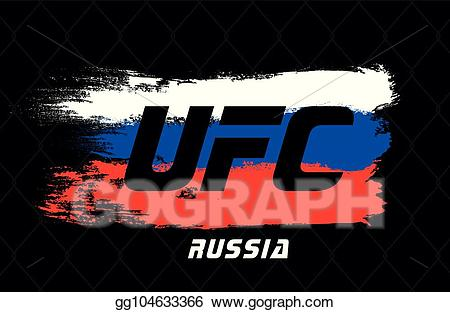 Advertise your event clipart download Vector Stock - Ufc russia template, for advertising your event ... download