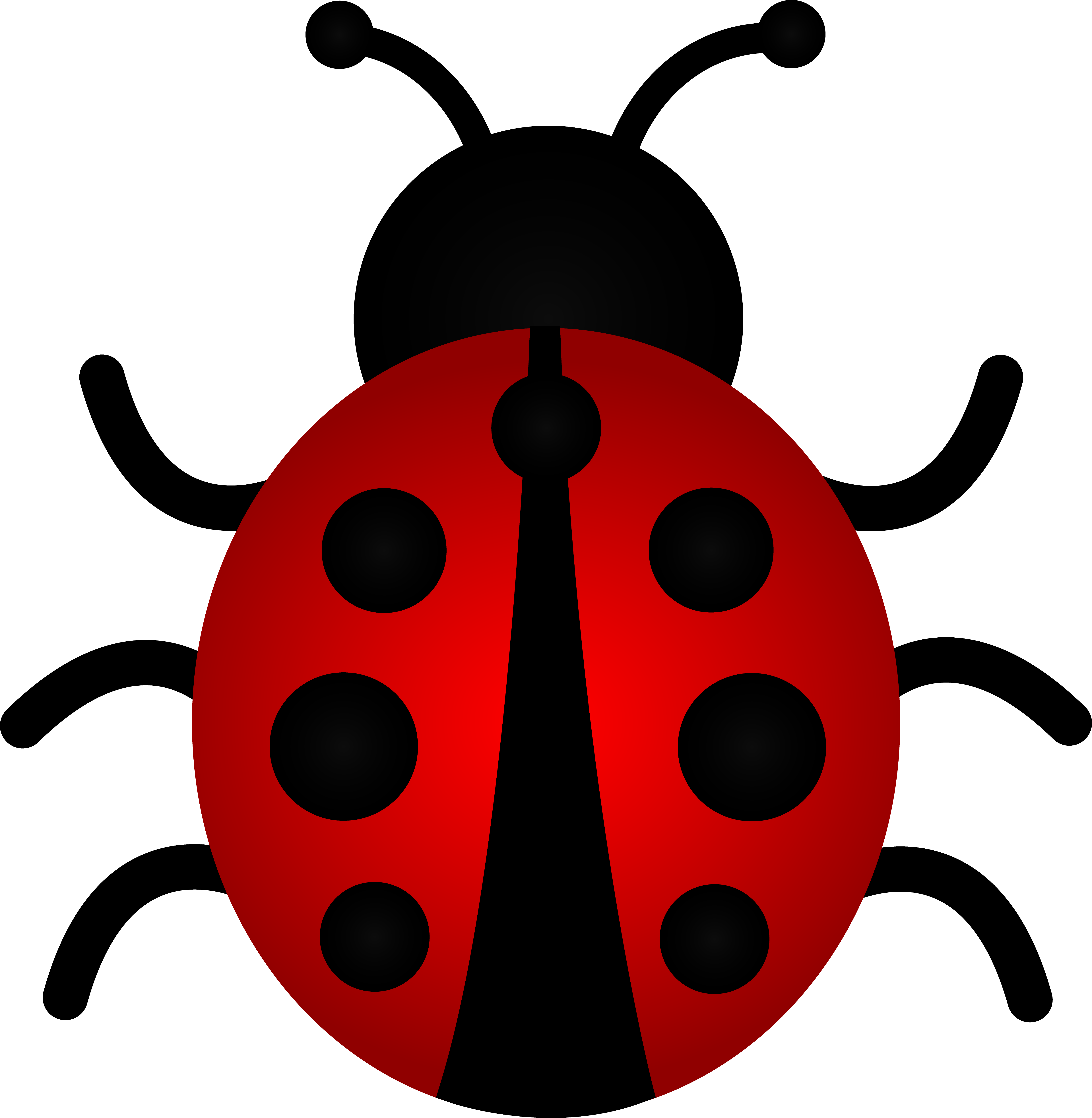 Red ladybug clipart