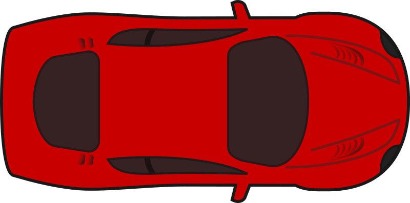 Aerial view of car clipart clip art free stock Clipart - Red racing car top view clip art free stock