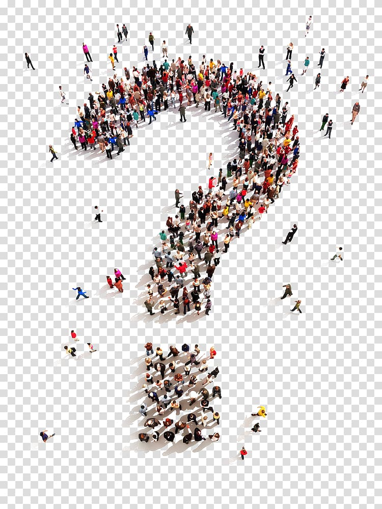 Aerial view paper clipart vector Aerial view of people forming question mark, Question mark Thought ... vector