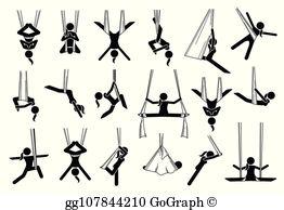 Aerial yoga clipart clip stock Aerial Yoga Clip Art - Royalty Free - GoGraph clip stock