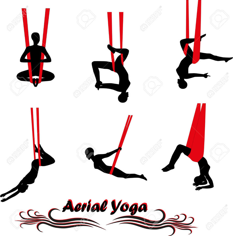 Aerial yoga clipart image library download Download aerial yoga vector clipart Anti-gravity yoga Clip art image library download