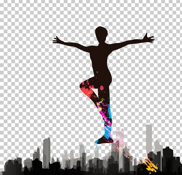 Aerobic clipart silhouette clip freeuse Aerobics Dance Silhouette PNG, Clipart, Advertisement Poster ... clip freeuse