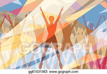 Aerobic dance clipart png freeuse download EPS Illustration - Aerobic dance. Vector Clipart gg61531563 - GoGraph png freeuse download