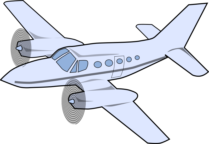 Small airplane clipart