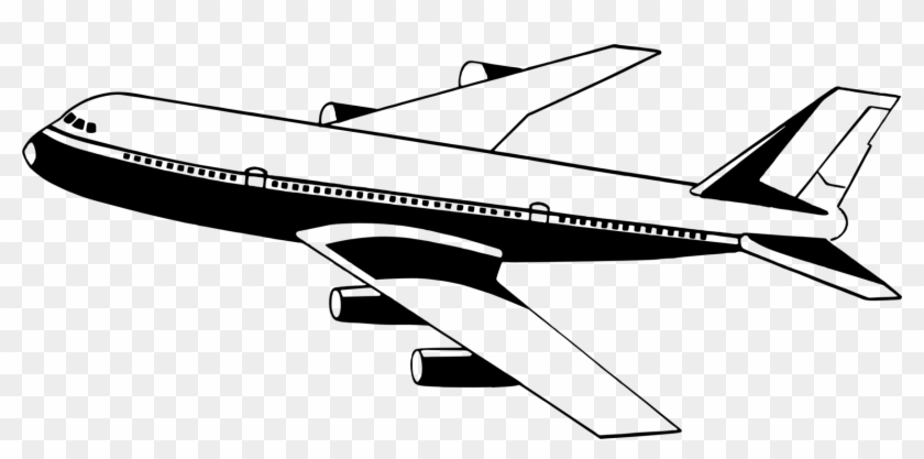 Airplane clipart black white image black and white Airplane Jet Aircraft Aviation Download - Aeroplane Clipart Black ... image black and white
