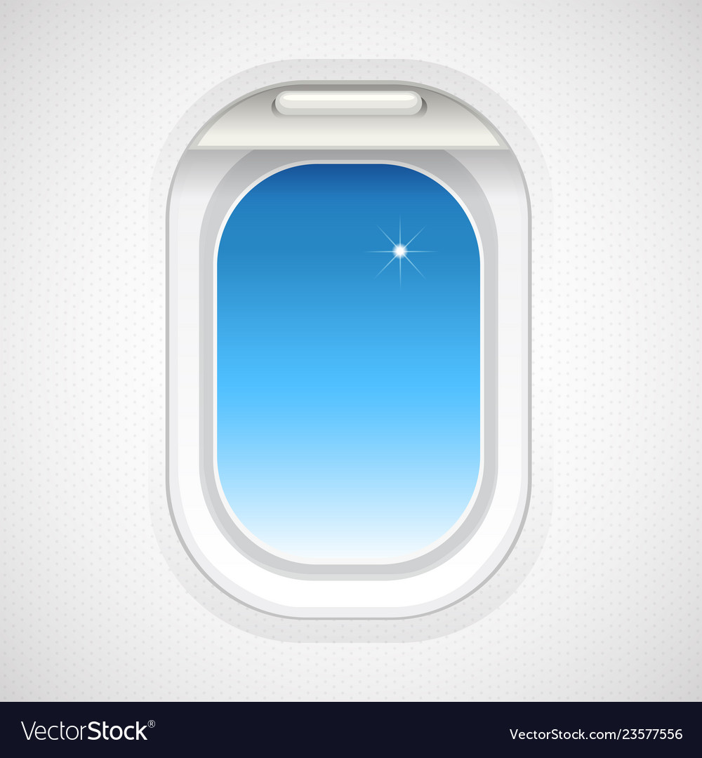Aeroplane window clipart svg freeuse Sky view outside plane window vector image svg freeuse
