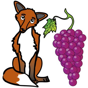 Aesop animals clipart graphic royalty free stock Aesop\'s Fables: The Fox and the Grapes Free Clip Art Set | First ... graphic royalty free stock