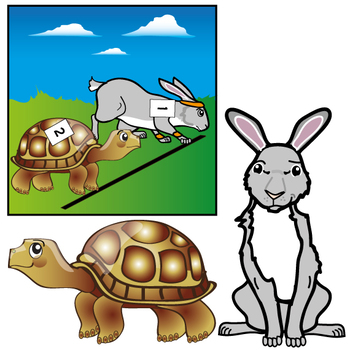 Aesops fables clipart image transparent library Aesop\'s Fables : The Tortoise and the Hare Clip Art Set image transparent library